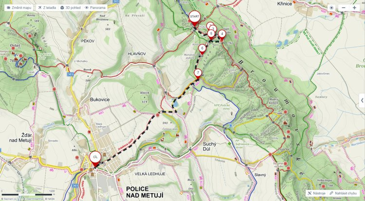 Trasa Kamenný rozcestník na Hvězdě ⇒ Kašna Masarykovo náměstí • Mapy.cz - Google Chrome 1.5.2018 143855